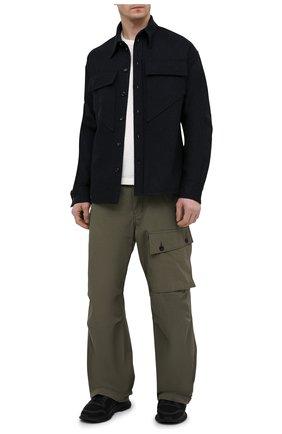 Мужская шерстяная рубашка BOTTEGA VENETA темно-синего цвета, арт. 647383/V0BJ0   Фото 2