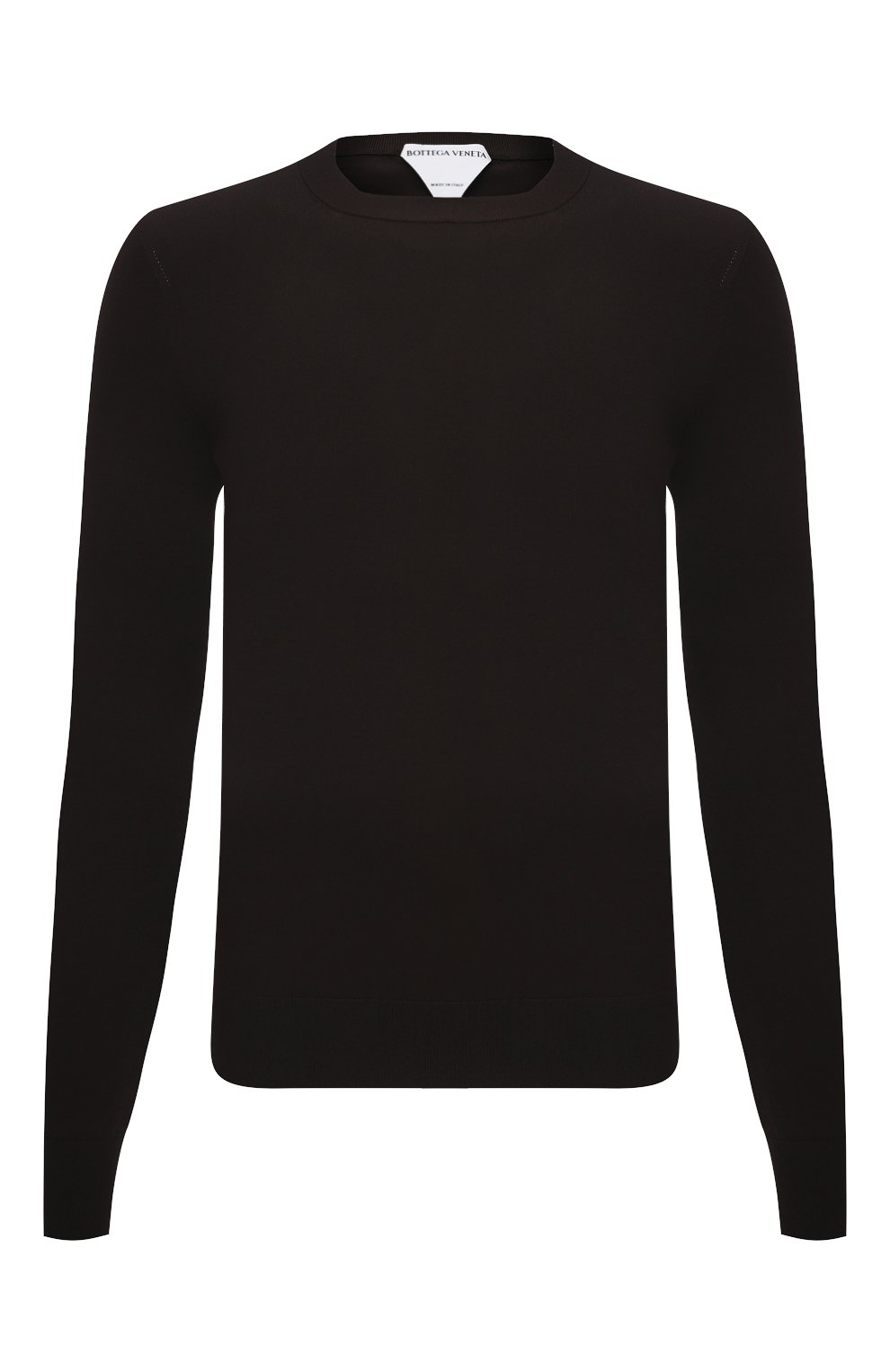 Мужской джемпер из вискозы BOTTEGA VENETA темно-коричневого цвета, арт. 647526/VKJK0 | Фото 1
