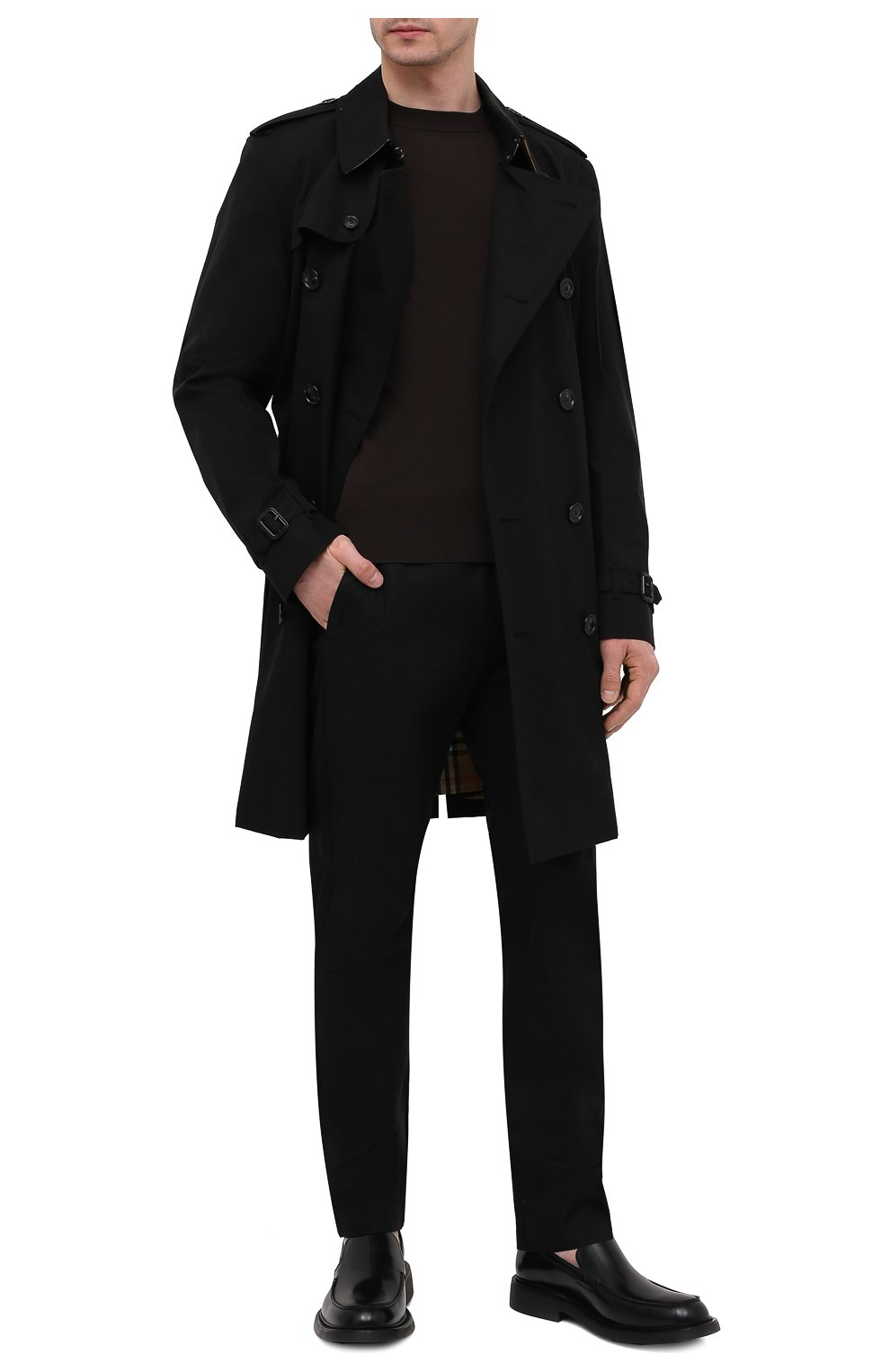 Мужской джемпер из вискозы BOTTEGA VENETA темно-коричневого цвета, арт. 647526/VKJK0 | Фото 2
