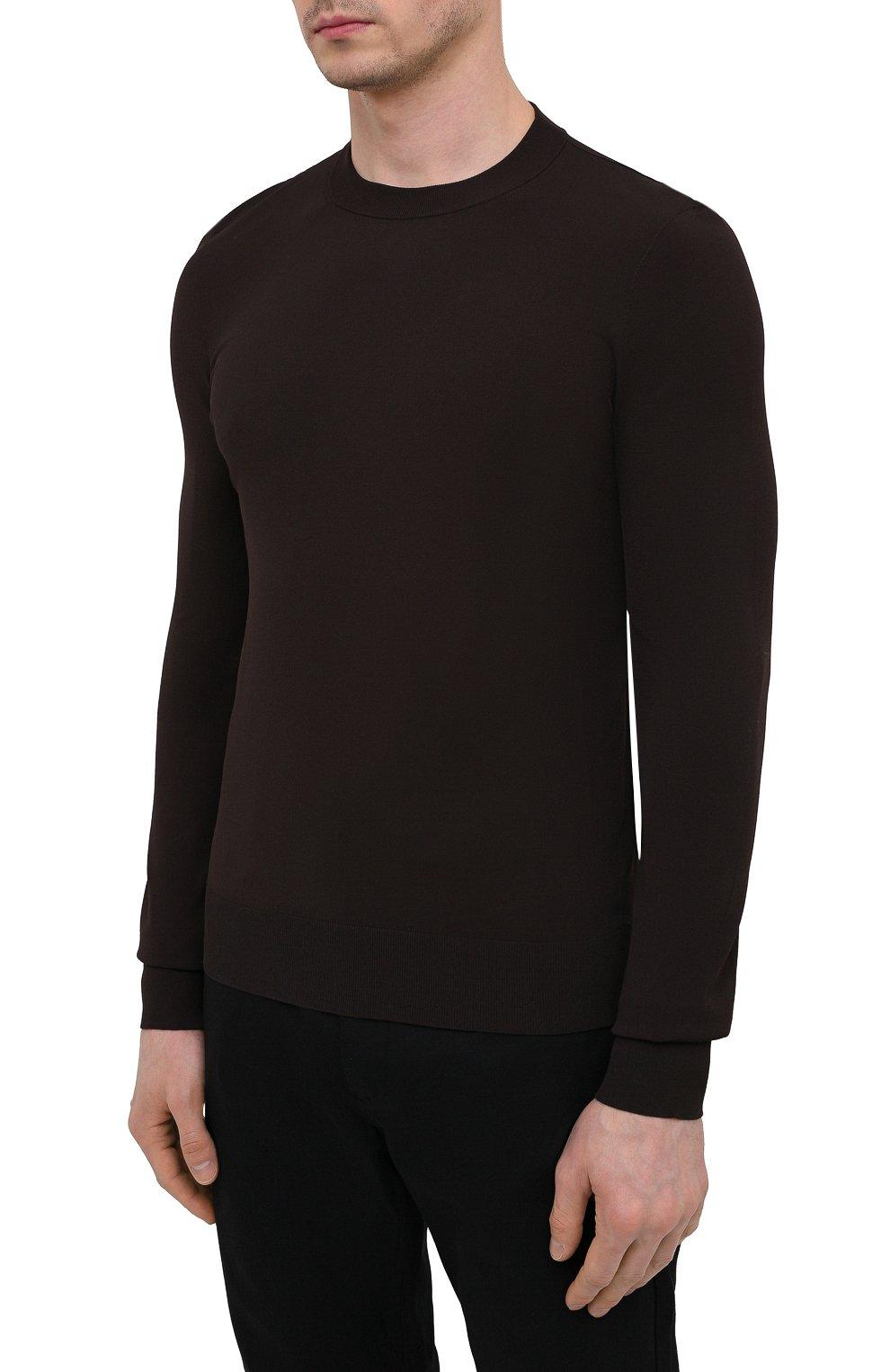 Мужской джемпер из вискозы BOTTEGA VENETA темно-коричневого цвета, арт. 647526/VKJK0 | Фото 3