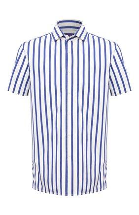 Мужская хлопковая рубашка RALPH LAUREN синего цвета, арт. 790827987 | Фото 1