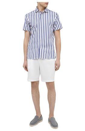 Мужская хлопковая рубашка RALPH LAUREN синего цвета, арт. 790827987 | Фото 2