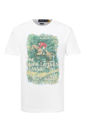 Мужская хлопковая футболка POLO RALPH LAUREN белого цвета, арт. 710823544 | Фото 1
