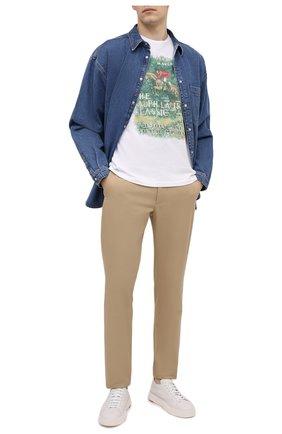 Мужская хлопковая футболка POLO RALPH LAUREN белого цвета, арт. 710823544 | Фото 2