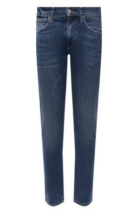 Мужские джинсы POLO RALPH LAUREN синего цвета, арт. 710801487 | Фото 1 (Материал внешний: Лиоцелл, Хлопок; Длина (брюки, джинсы): Стандартные; Силуэт М (брюки): Прямые; Стили: Кэжуэл)