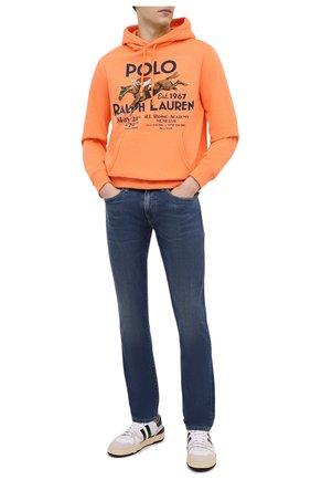 Мужские джинсы POLO RALPH LAUREN синего цвета, арт. 710801487 | Фото 2 (Материал внешний: Лиоцелл, Хлопок; Длина (брюки, джинсы): Стандартные; Силуэт М (брюки): Прямые; Стили: Кэжуэл)