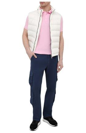 Мужское хлопковое поло POLO RALPH LAUREN розового цвета, арт. 710541705 | Фото 2