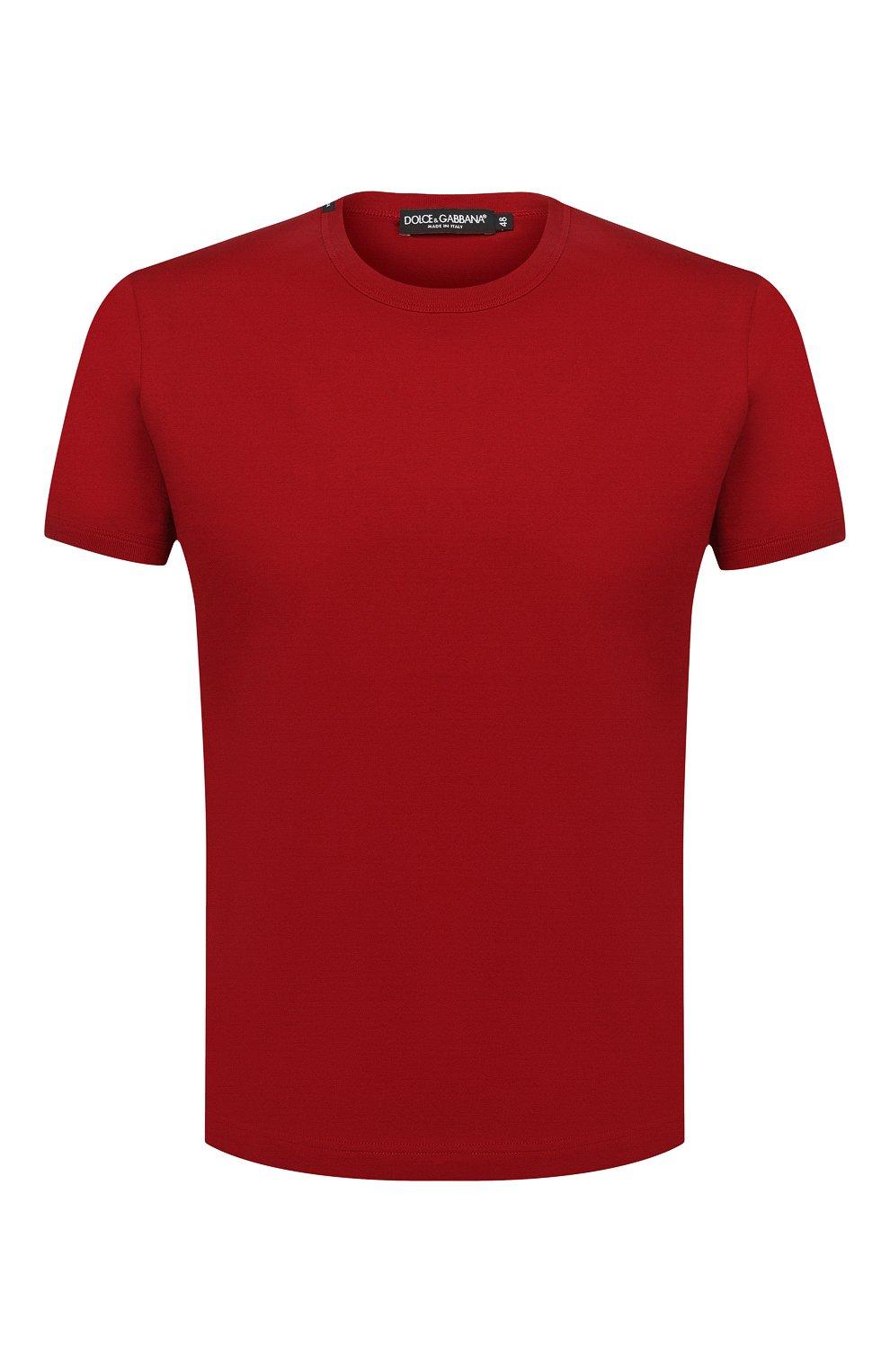 Мужская хлопковая футболка DOLCE & GABBANA красного цвета, арт. G8JX7T/FU7EQ | Фото 1