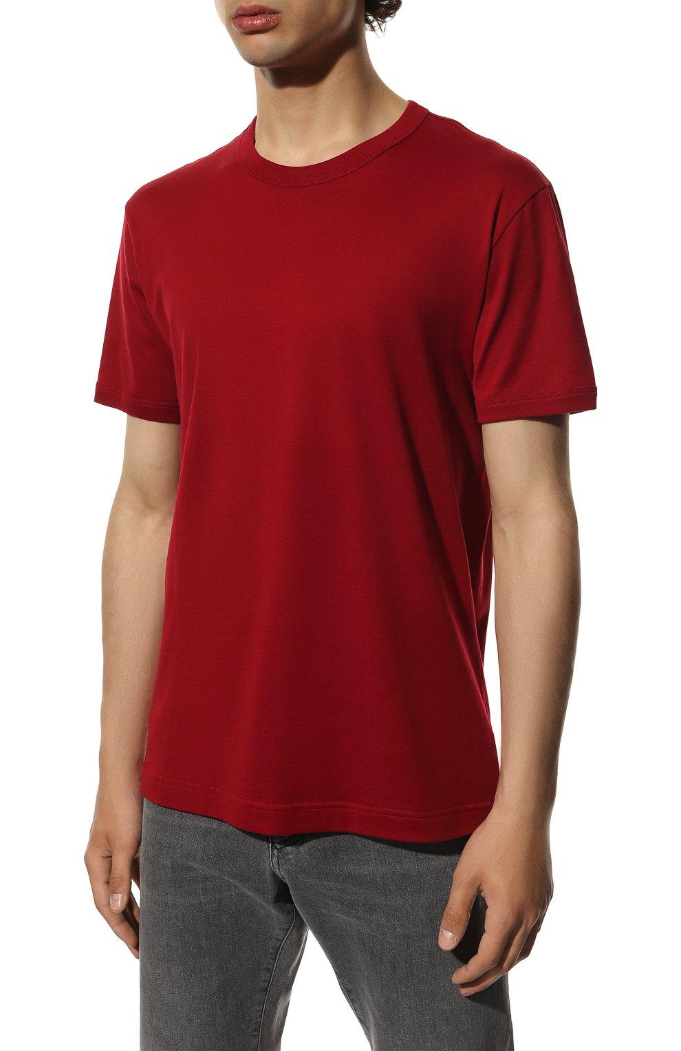 Мужская хлопковая футболка DOLCE & GABBANA красного цвета, арт. G8JX7T/FU7EQ | Фото 3