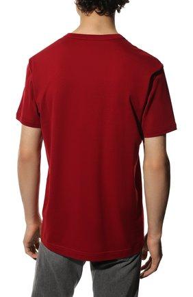 Мужская хлопковая футболка DOLCE & GABBANA красного цвета, арт. G8JX7T/FU7EQ | Фото 4
