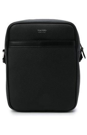Мужская кожаная сумка TOM FORD черного цвета, арт. H0389P-LCL037 | Фото 1