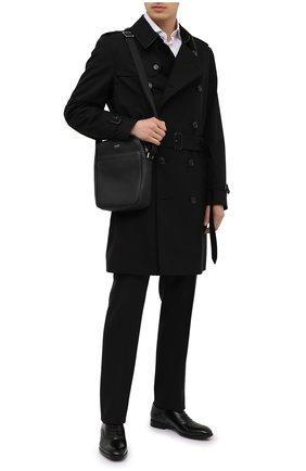 Мужская кожаная сумка TOM FORD черного цвета, арт. H0389P-LCL037 | Фото 2