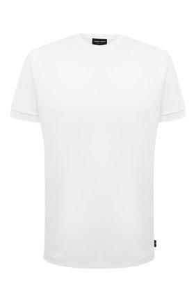 Мужская хлопковая футболка GIORGIO ARMANI белого цвета, арт. 3KSM93/SJXDZ   Фото 1