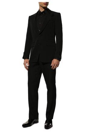 Мужская хлопковая сорочка DOLCE & GABBANA черного цвета, арт. G5EN4T/GED78 | Фото 2