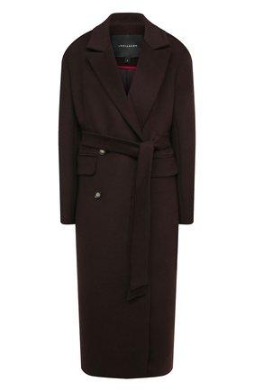 Женское пальто из шерсти и вискозы LESYANEBO коричневого цвета, арт. FW20/H-405 | Фото 1