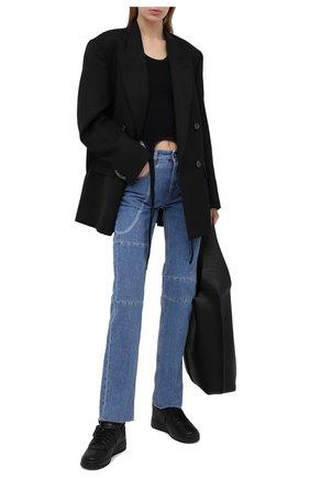 Женские кожаные кеды comme des garcons x nike COMME DES GARCONS черного цвета, арт. GF-K108-001 | Фото 2