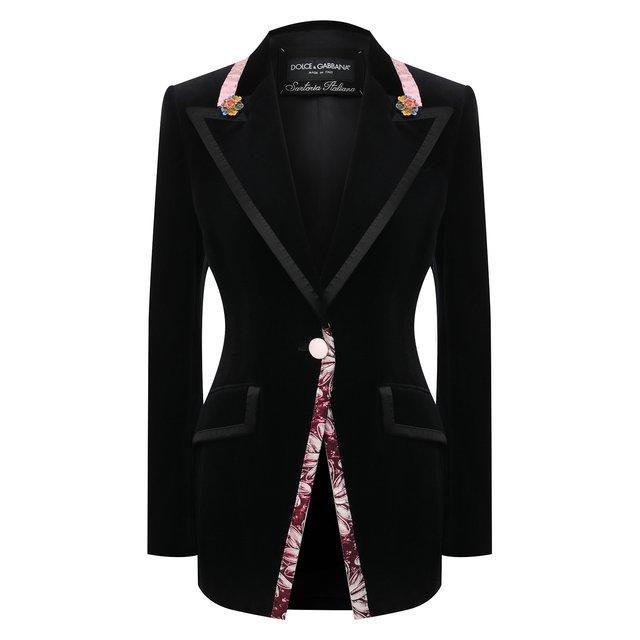 Бархатный жакет Dolce & Gabbana