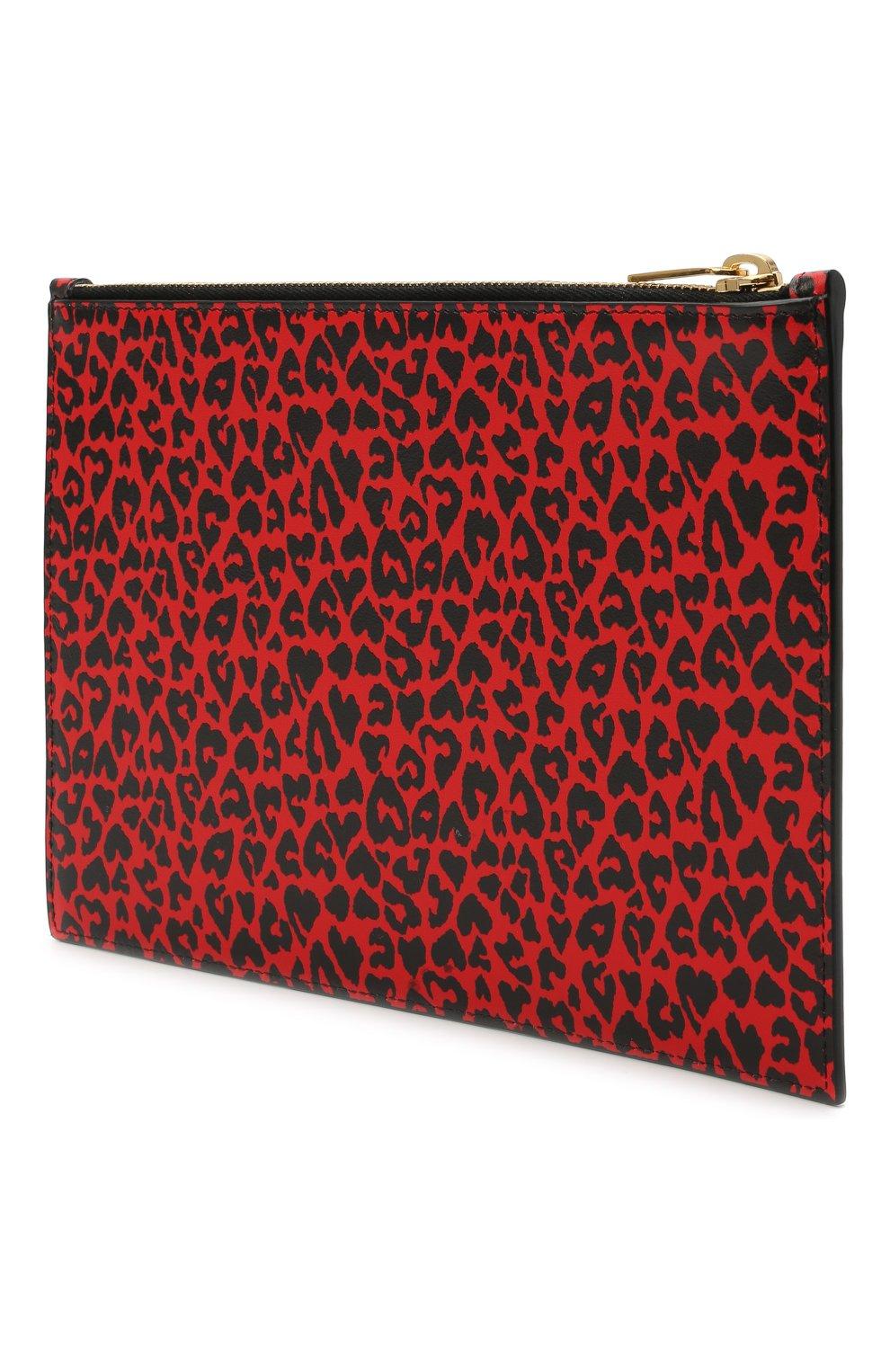 Женские кожаный футляр для документов SAINT LAURENT красного цвета, арт. 635098/2RU0J | Фото 2