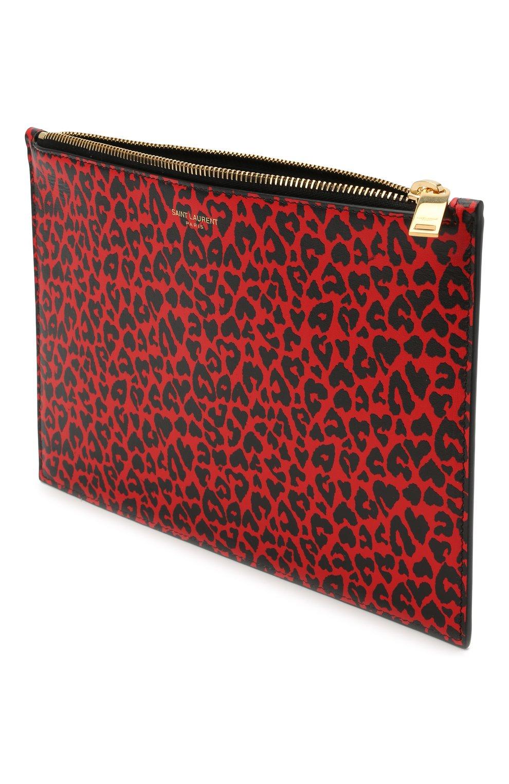 Женские кожаный футляр для документов SAINT LAURENT красного цвета, арт. 635098/2RU0J | Фото 3