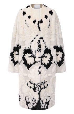 Женская шуба из меха норки VALENTINO черно-белого цвета, арт. VF3FAM401CF | Фото 1