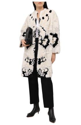 Женская шуба из меха норки VALENTINO черно-белого цвета, арт. VF3FAM401CF | Фото 2