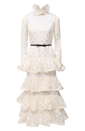 Женское платье из шелка и вискозы ZIMMERMANN белого цвета, арт. 9595DAND | Фото 1