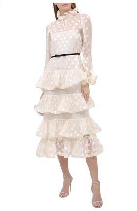 Женское платье из шелка и вискозы ZIMMERMANN белого цвета, арт. 9595DAND | Фото 2