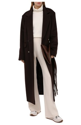 Женские комбинированные кроссовки BRUNELLO CUCINELLI серого цвета, арт. MZSFG1561 | Фото 2