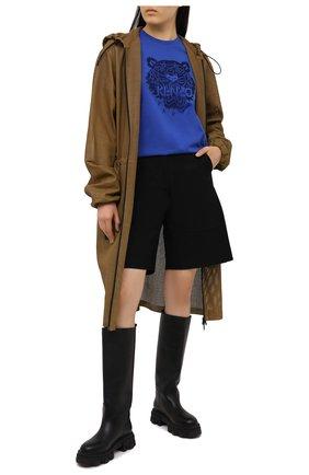 Женская хлопковая футболка KENZO синего цвета, арт. FB52TS9154YF | Фото 2