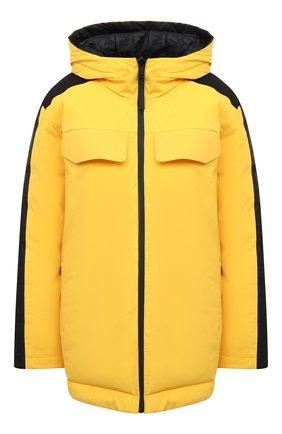 Женский пуховая куртка FENDI желтого цвета, арт. FAA434 AERK | Фото 1