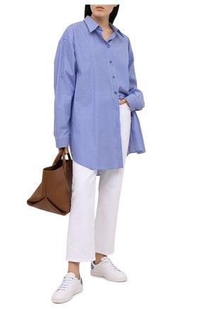 Женские кожаные кеды valentino garavani backnet VALENTINO голубого цвета, арт. VW2S0M20/DYH | Фото 2