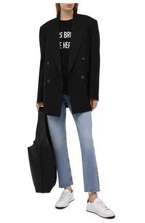 Женские кожаные кеды kourt KENZO белого цвета, арт. FA62SN170L50 | Фото 2