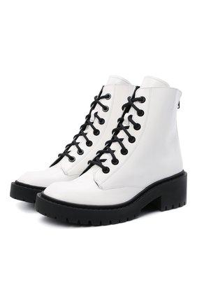 Женские кожаные ботинки city KENZO белого цвета, арт. FB52BT340L67 | Фото 1