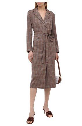 Женские кожаные мюли lana BY FAR темно-коричневого цвета, арт. 21CRLAMDWNAP | Фото 2