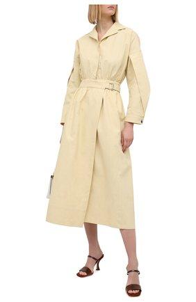 Женские кожаные мюли nayla BY FAR темно-коричневого цвета, арт. 21CRNAYSDWW | Фото 2