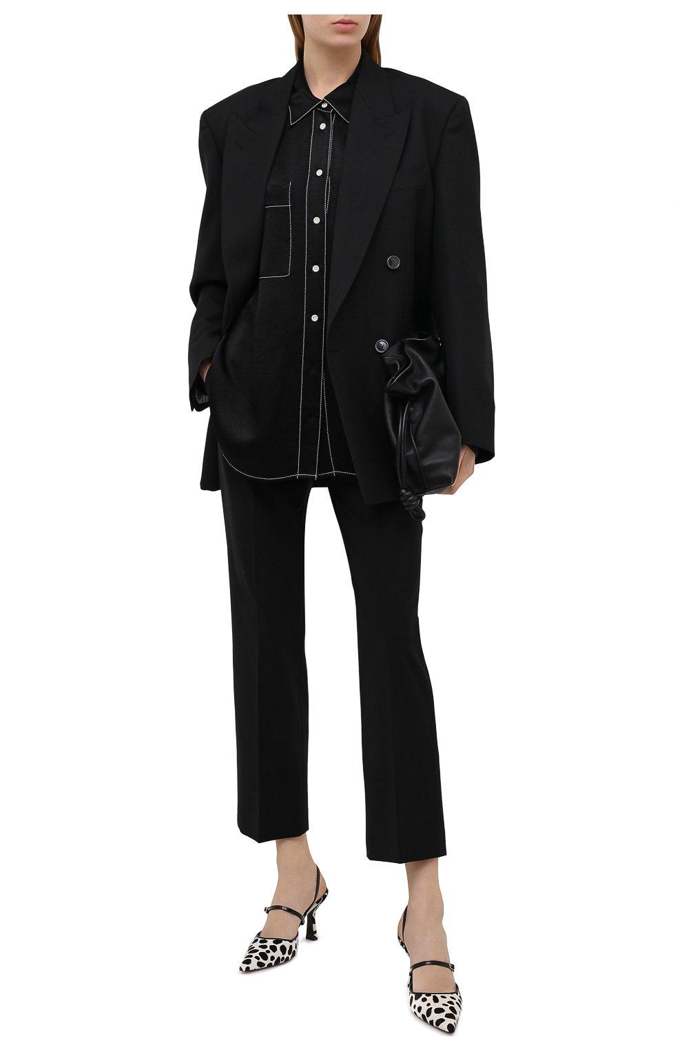 Женские кожаные туфли tiffany BY FAR черно-белого цвета, арт. 21CRTIFPDLPY | Фото 2