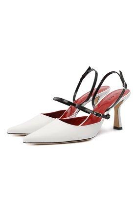 Женские кожаные туфли tiffany BY FAR белого цвета, арт. 21CRTIFPWHNAP | Фото 1