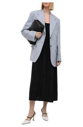 Женские кожаные туфли tiffany BY FAR белого цвета, арт. 21CRTIFPWHNAP | Фото 2