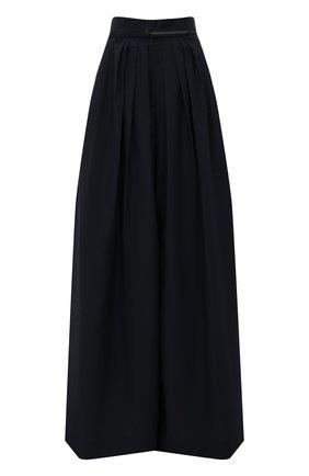 Женские хлопковые брюки BRUNELLO CUCINELLI темно-синего цвета, арт. M0F79P7595 | Фото 1