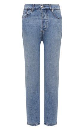 Женские джинсы NANUSHKA голубого цвета, арт. KEMIA_LIGHT BLUE_RIGID DENIM | Фото 1 (Стили: Кэжуэл; Силуэт Ж (брюки и джинсы): Прямые; Материал внешний: Хлопок; Длина (брюки, джинсы): Стандартные)