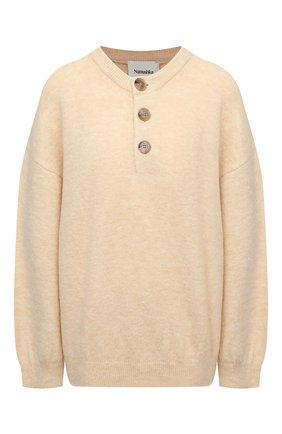 Женский пуловер NANUSHKA кремвого цвета, арт. LAMEE_CREME_FLUFFY KNIT | Фото 1