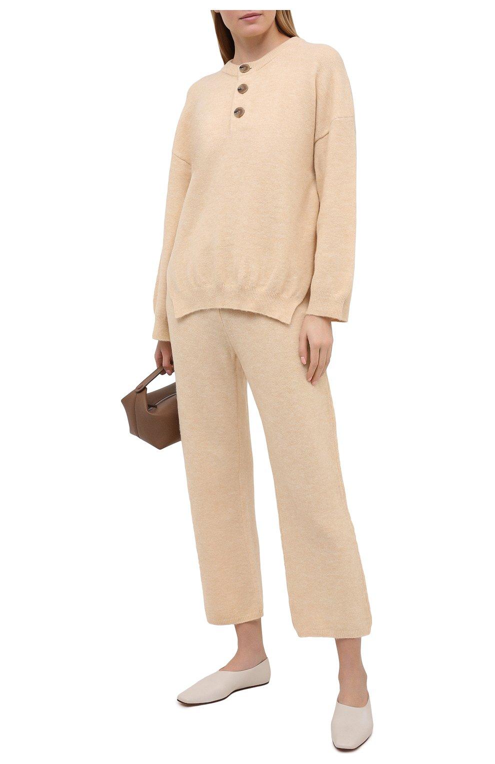 Женский пуловер NANUSHKA кремвого цвета, арт. LAMEE_CREME_FLUFFY KNIT | Фото 2