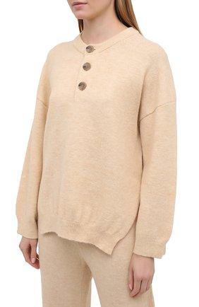 Женский пуловер NANUSHKA кремвого цвета, арт. LAMEE_CREME_FLUFFY KNIT | Фото 3
