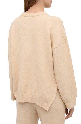 Женский пуловер NANUSHKA кремвого цвета, арт. LAMEE_CREME_FLUFFY KNIT | Фото 4