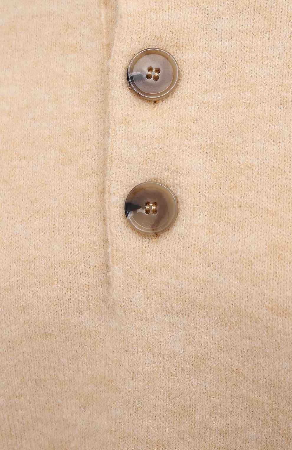 Женский пуловер NANUSHKA кремвого цвета, арт. LAMEE_CREME_FLUFFY KNIT | Фото 5