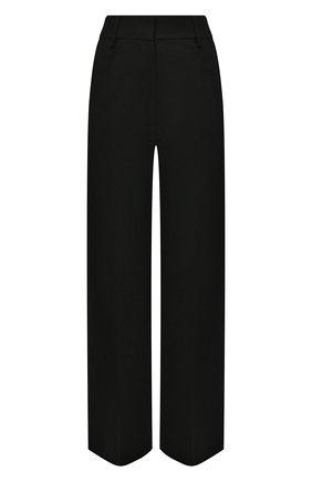 Женские шерстяные брюки BURBERRY черного цвета, арт. 8037325 | Фото 1