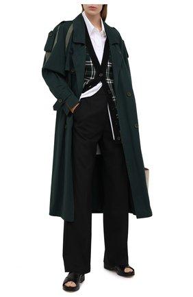 Женские шерстяные брюки BURBERRY черного цвета, арт. 8037325 | Фото 2