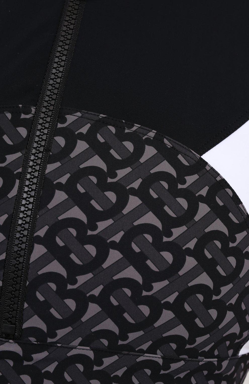 Женский топ BURBERRY черного цвета, арт. 8036687   Фото 5 (Женское Кросс-КТ: Топ-спорт; Кросс-КТ: без рукавов; Материал внешний: Синтетический материал; Материал подклада: Синтетический материал; Рукава: Без рукавов; Длина (для топов): Укороченные)