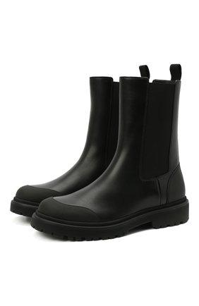 Женские кожаные ботинки patty MONCLER черного цвета, арт. G1-09B-4F713-00-02SQU | Фото 1