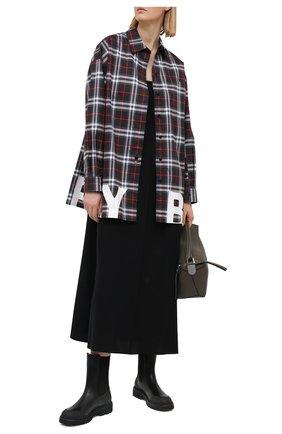 Женские кожаные ботинки patty MONCLER черного цвета, арт. G1-09B-4F713-00-02SQU | Фото 2